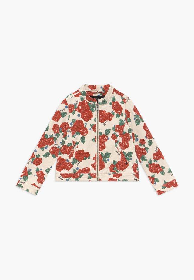 Denim jacket - white/red