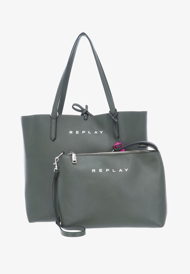 Across body bag - green trutle - shiny violet