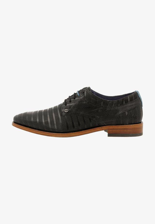 BRAD STRIPES  - Smart lace-ups - black