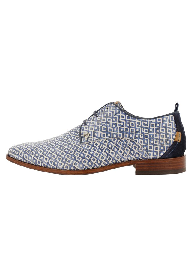 GREG CHECKER - Casual lace-ups - blue