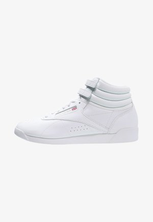 FREESTYLE HI LIGHT SOFT LEATHER SHOES - Sneakers hoog - white/silver