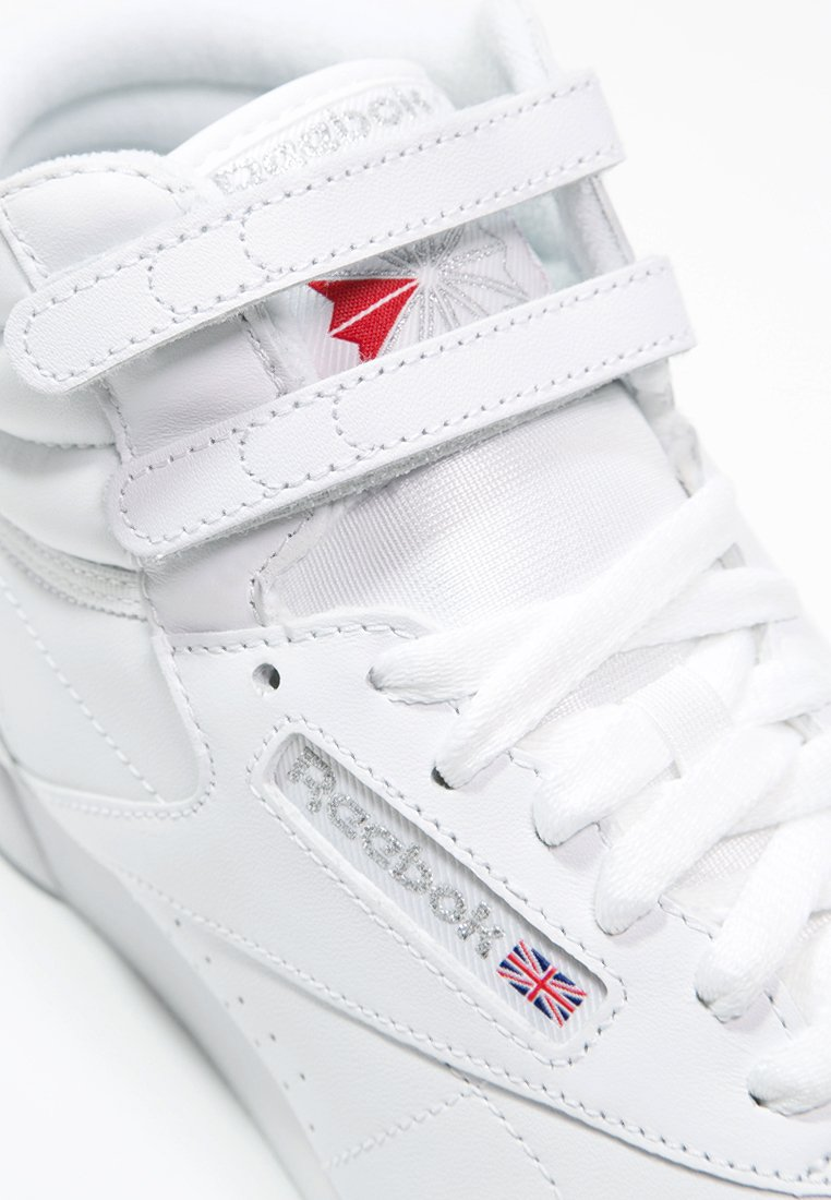 FREESTYLE HI LIGHT SOFT LEATHER SHOES Sneakers alte whitesilver