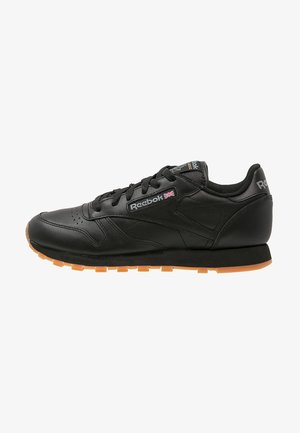 CLASSIC LEATHER LOW-CUT DESIGN SHOES - Joggesko - black