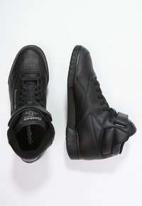 Reebok Classic - EX-O-FIT LEATHER SHOES - Höga sneakers - black - 1