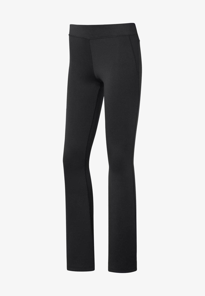 Reebok - WORKOUT READY BOOT CUT PANTS - Trousers - black