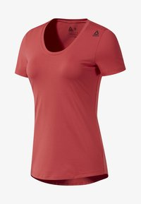 Reebok - WORKOUT READY SPEEDWICK TEE - Print T-shirt - rebel red - 0