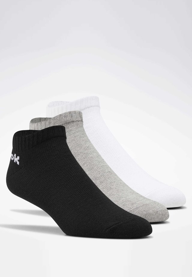 ACTIVE CORE LOW-CUT SOCKS 3 PAIRS - Skarpety - white, black, grey