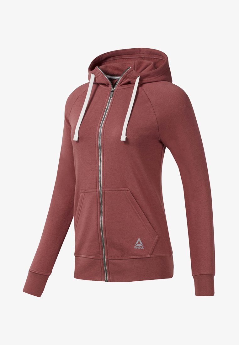 Reebok - TRAINING ESSENTIALS FULL-ZIP HOODIE - Sweatjacke - rose dust