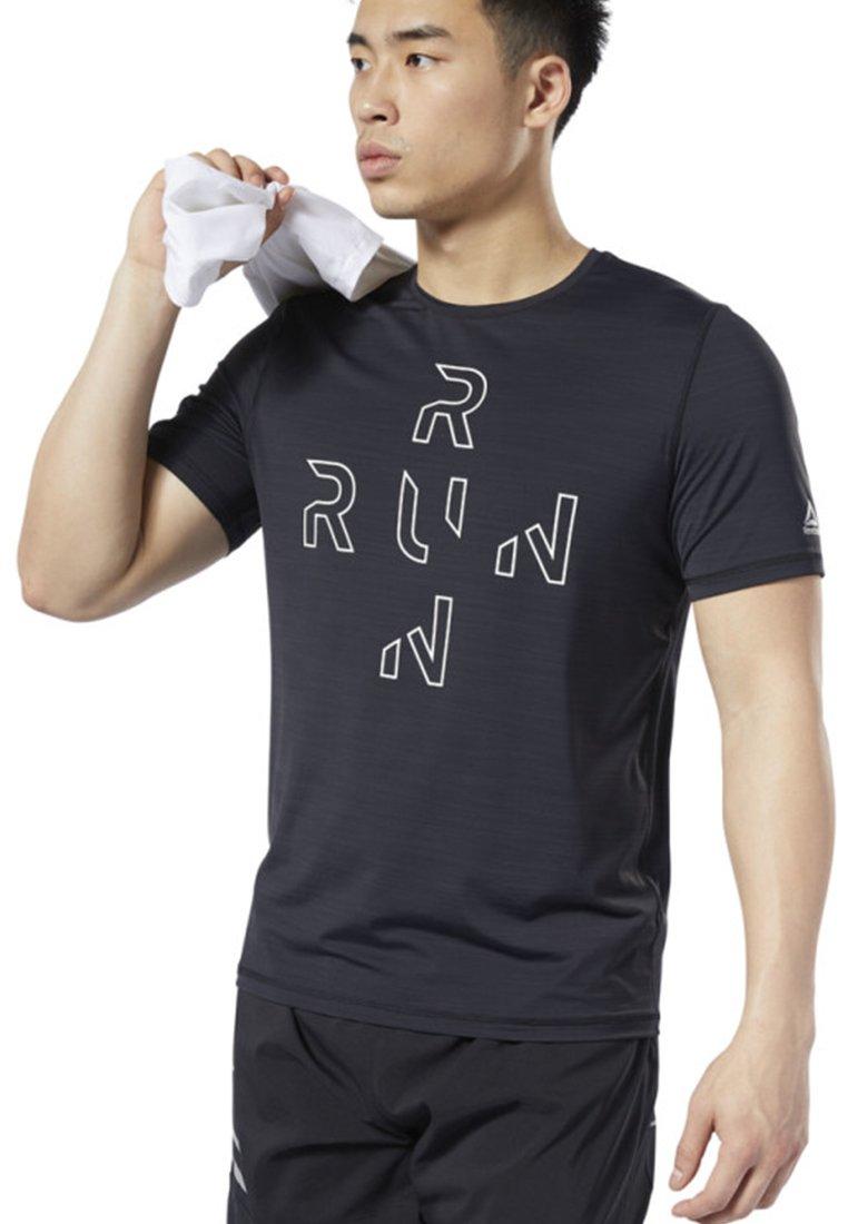 Reebok - ONE SERIES RUNNING ACTIVCHILL TEE - T-shirt print - black
