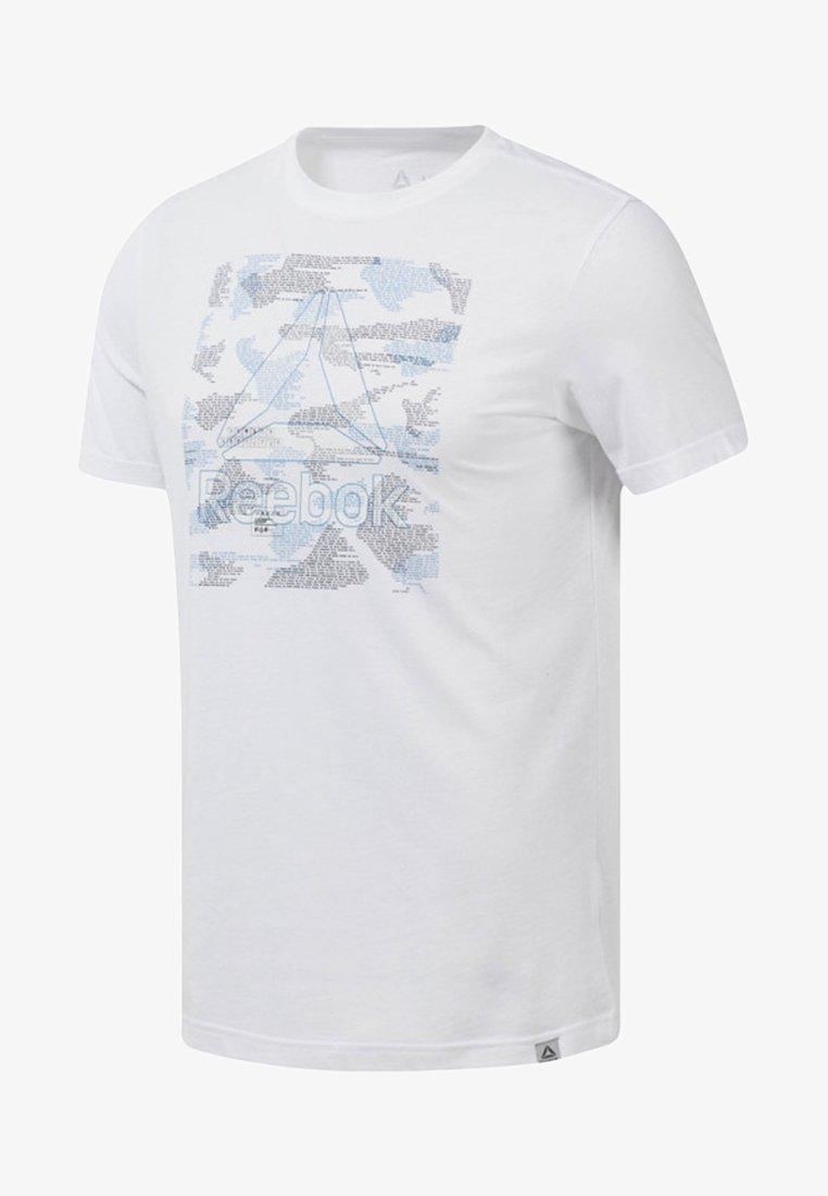 Reebok - GRAPHIC SERIES BE MORE HUMAN TEE - T-shirt con stampa - white