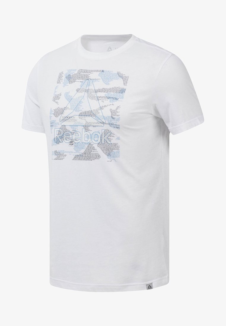Reebok - GRAPHIC SERIES BE MORE HUMAN TEE - T-shirts print - white
