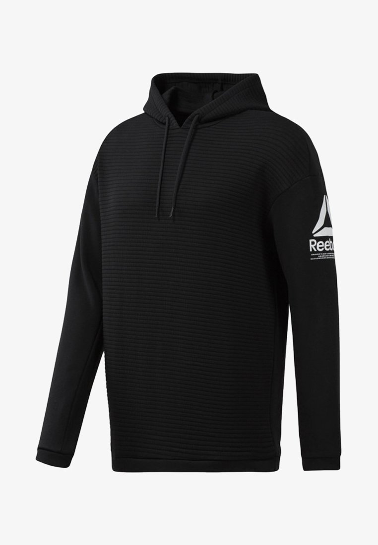 Reebok - WORKOUT READY FLEECE HOODIE - Kapuzenpullover - black