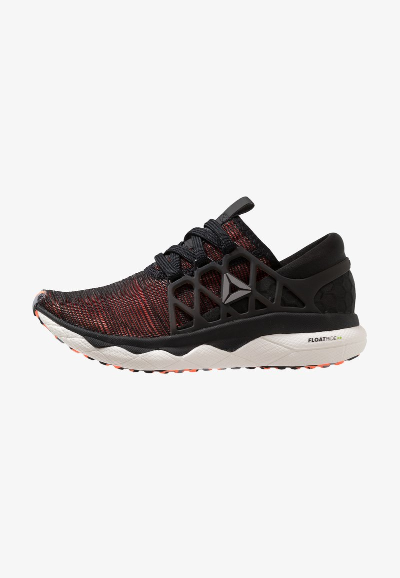 Reebok - FLOATRIDE RUN FLEXWEAVE - Neutral running shoes - black/guava/white/shadow/grey