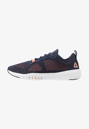 FLEXAGON - Sports shoes - navy/sunglow/white