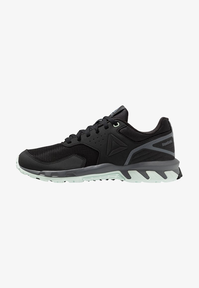 Reebok - RIDGERIDER TRAIL 4.0 - Trail running shoes - black/greyemerald ice