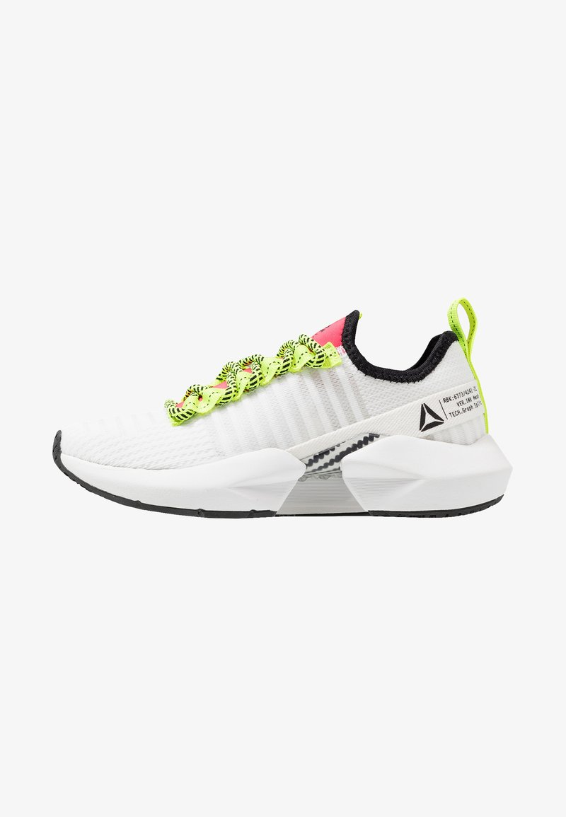 Reebok - SOLE FURY - Neutral running shoes - white/black/lime/red