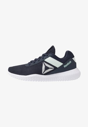 FLEXAGON ENERGY TR - Zapatillas de entrenamiento - heritage navy/emerald ice/white
