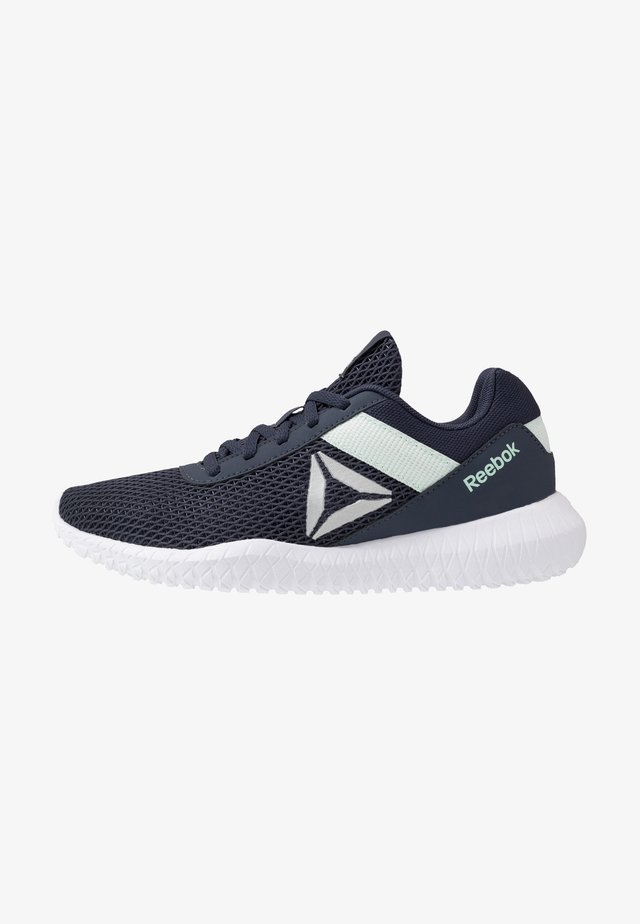 FLEXAGON ENERGY TR - Sports shoes - heritage navy/emerald ice/white