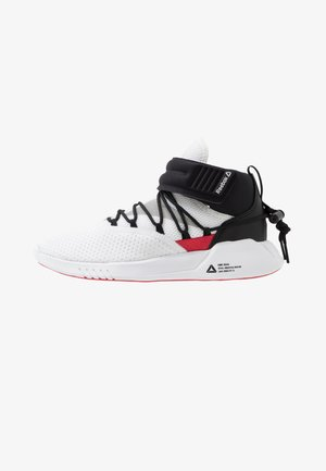 FREESTYLE MOTION TRAINING SHOES - Sports shoes - white/black/rebred