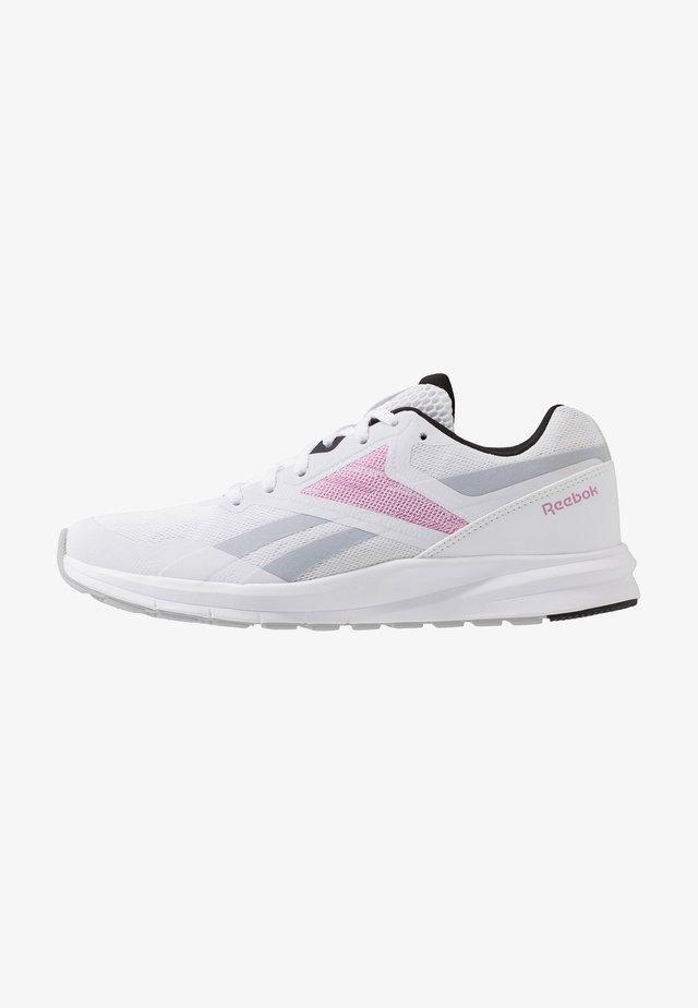RUNNER 4.0 - Zapatillas de running neutras - white/black/jasmin pink