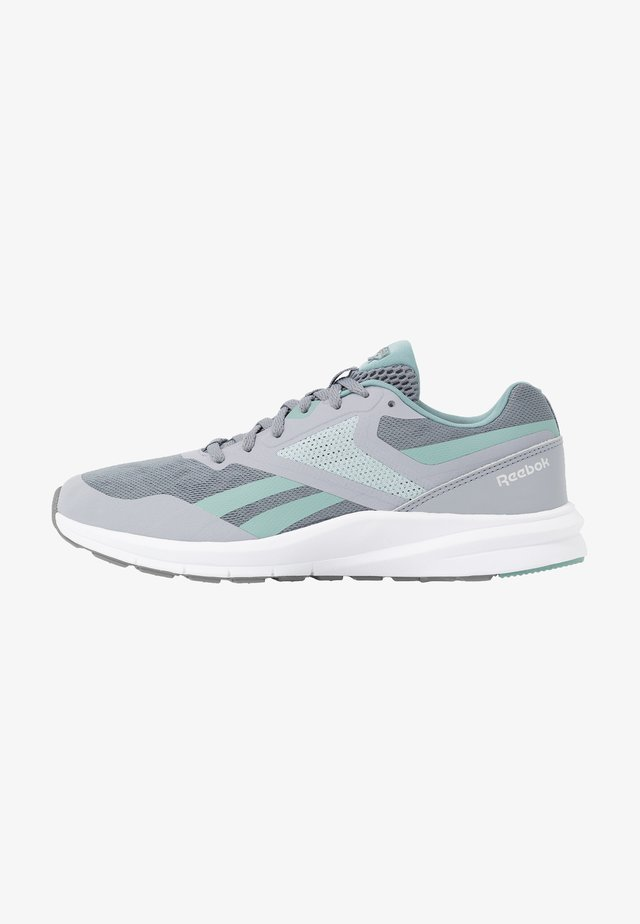 RUNNER 4.0 - Obuwie do biegania treningowe - collegiate shadow/cold grey/green slash