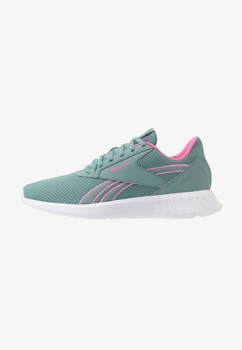 Reebok - LITE 2.0 - Zapatillas de competición - green slash/white/positiv pink