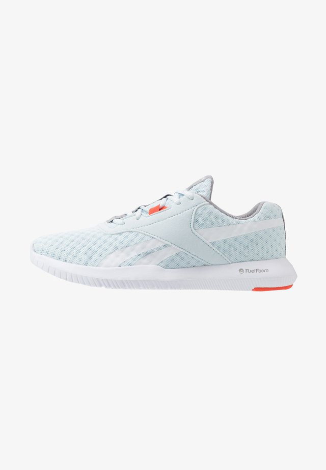 REAGO ESSENTIAL 2.0 - Gym- & träningskor - glass blue/white/vivid orange