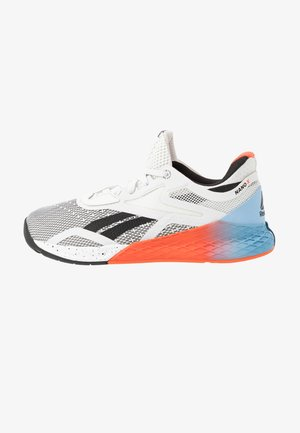 NANO X - Sports shoes - white/blue/vivid orange