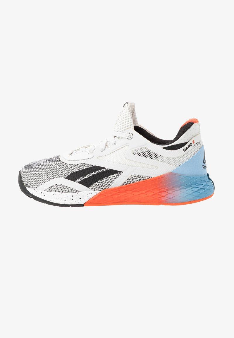 Reebok - NANO X - Sportschoenen - white/blue/vivid orange