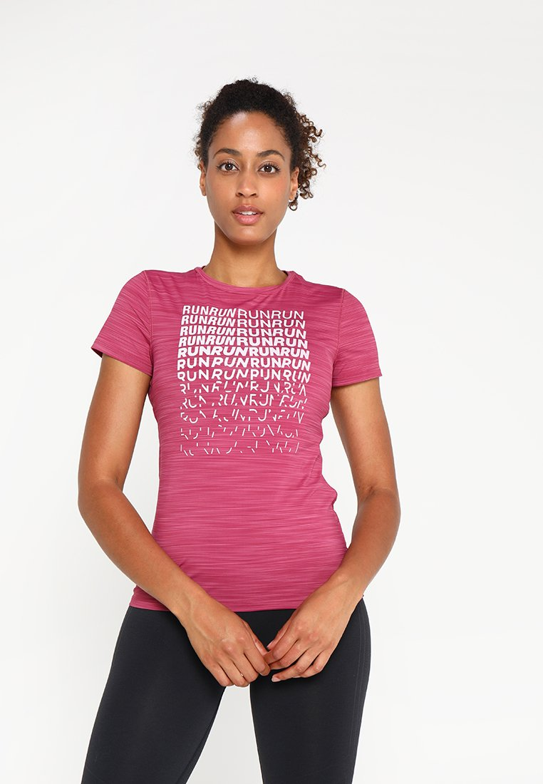 Reebok - TEE - Print T-shirt - berry