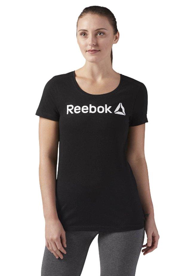 SCOOP NECK - Camiseta estampada - black