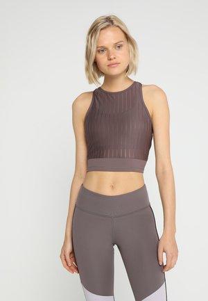 CROP TANK - Funkční triko - grey