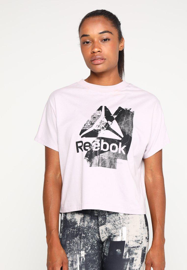 Reebok - GRAPHIC TEE - T-shirt z nadrukiem - lilac
