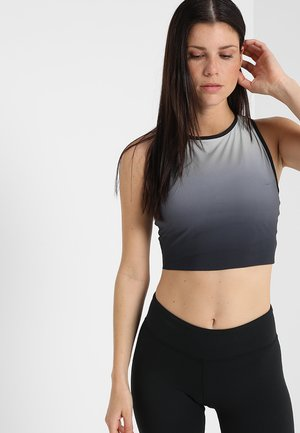 OMBRE CROP - Top - black