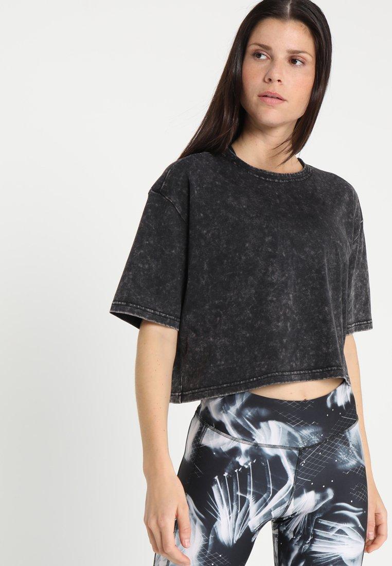 Reebok - WASHED TEE - T-shirts print - black