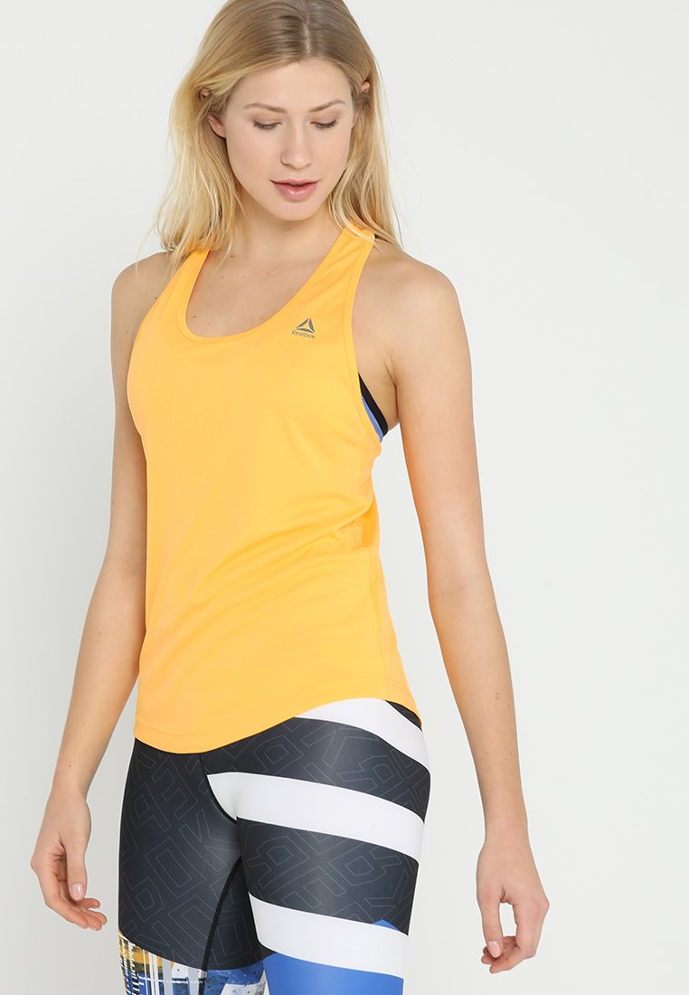 Reebok - TRAINING PERFORMANCE MESH TANKTOP - Sports shirt - sogold