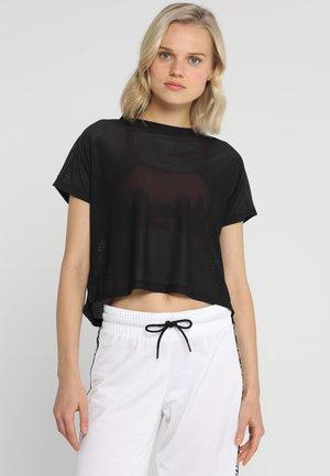 JACQUARD TEE - Treningsskjorter - black