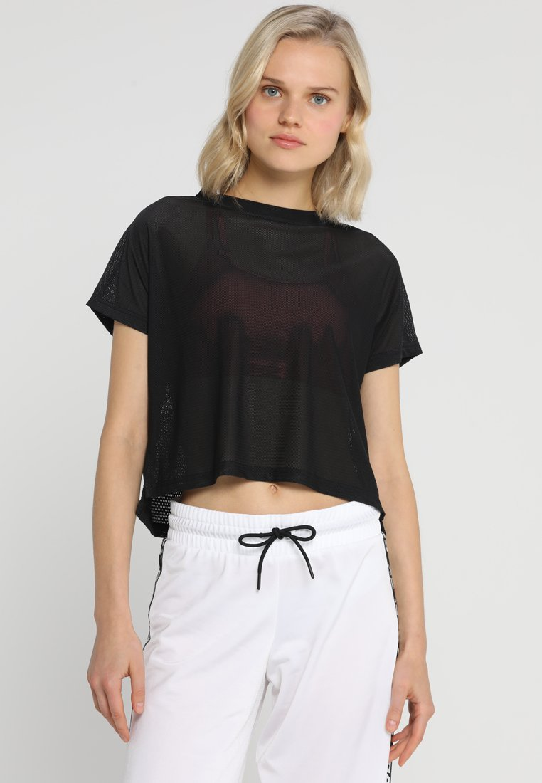 Reebok - JACQUARD TEE - T-shirt sportiva - black