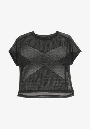 JACQUARD TEE - T-shirt de sport - black