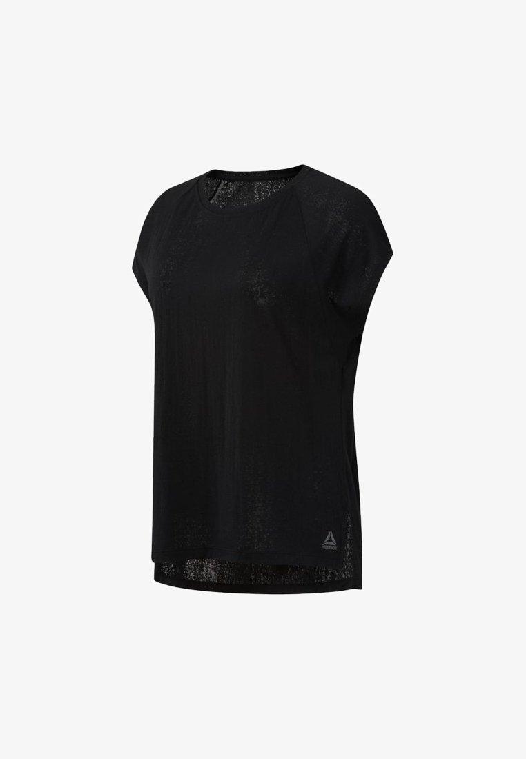 Reebok - BURNOUT - T-shirts - black