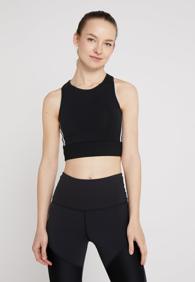 Reebok - TRAINING CROP TOP - Top - black