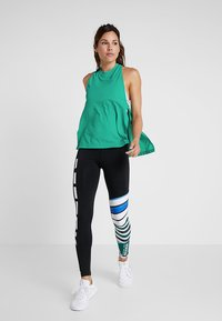 Reebok - MEET YOU THERE TRAINING TANKTOP - Sports shirt - emeral - 1