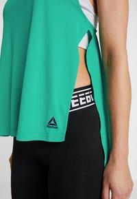 Reebok - MEET YOU THERE TRAINING TANKTOP - Sports shirt - emeral - 4