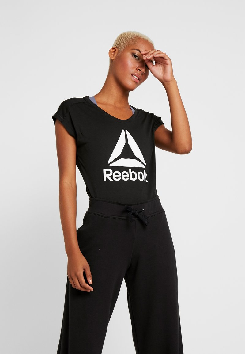 Reebok - SUPREMIUM 2.0 TEE - Print T-shirt - black
