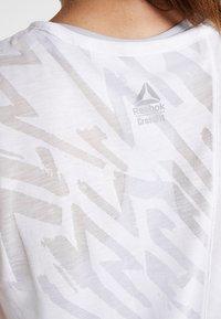 Reebok - BURNOUT TANK - Sports shirt - white - 5