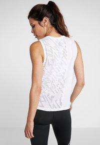 Reebok - BURNOUT TANK - Sports shirt - white - 2