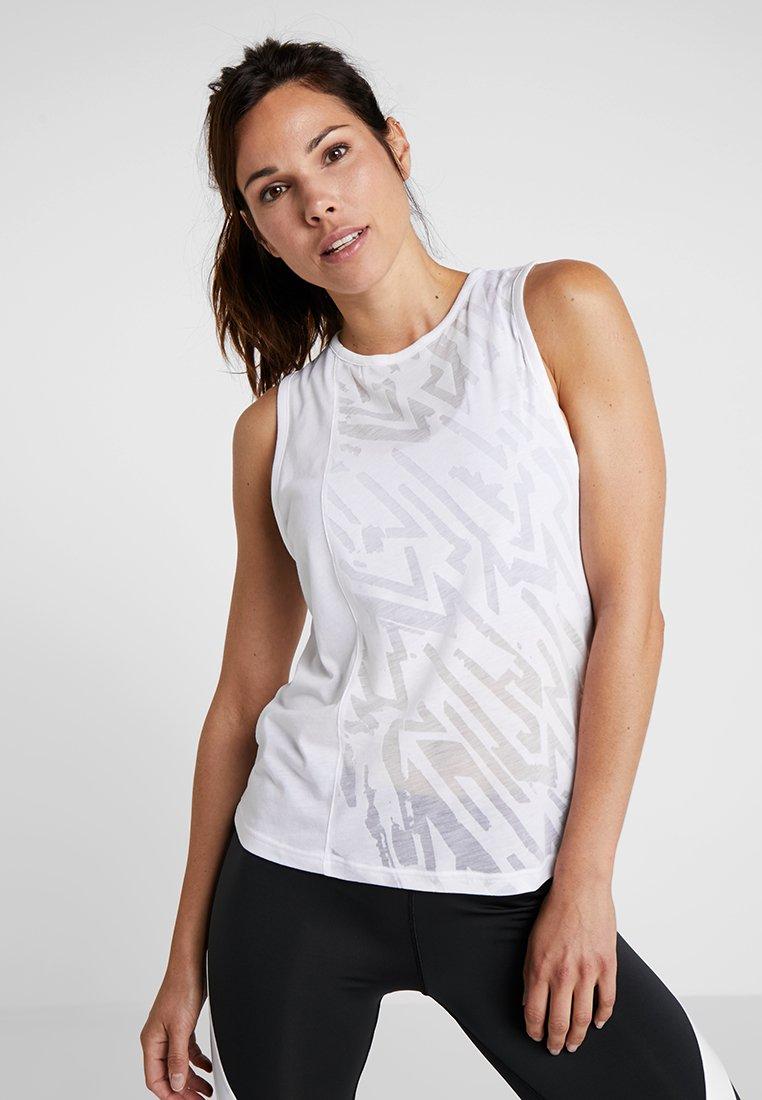 Reebok - BURNOUT TANK - Sports shirt - white