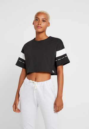 SOLID TEE - T-shirt con stampa - black