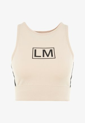 TRAINING CROP TOP - Linne - buff