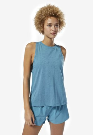 BURNOUT TANK TOP - Top - turquoise